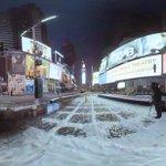 The snowstorm hits Manhattan