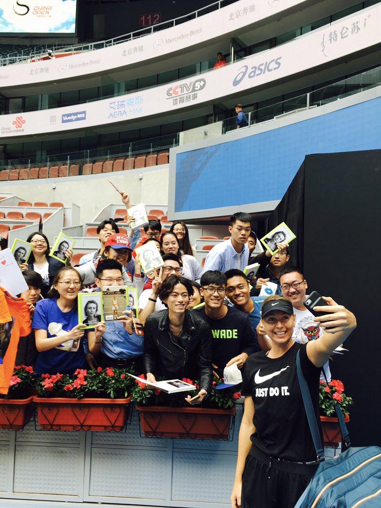 First practice in Beijing...hey #SharaFamilyChina ???? https://t.co/GJqTLfTxKf
