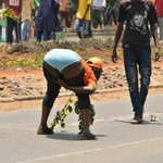 WOMAN $TR!P$ and shows off her big ugly A$$ during NASA anti-IEBC demos (Viral PHOTO).