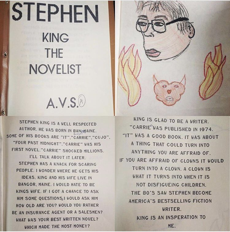 @StephenKing - I wrote a report about you in 5th grade. Enjoy. https://t.co/JP7Cv2Nurv