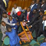 WATCH: Lawmakers push, punch each other in Ugandan parliament