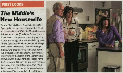 RT @JILLFRITZO: Don't miss @lisarinna on an upcoming episode of @TheMiddle_ABC https://t.co/clyiAgHCTj