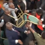 Ugandan MPs throw chairs in brawl over extending president's long rule