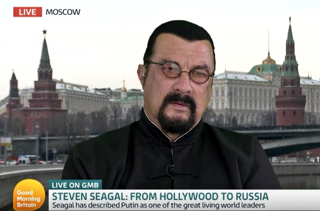 Oh, how fun! Steven Seagal transformed into a giant Russian nesting doll. https://t.co/cMAO6jq9Em