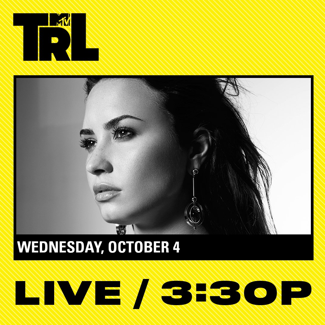 See you on @TRL next week NYC!! I'll be performing LIVE next Wednesday, October 4th at 3:30pm EST on @MTV �� https://t.co/rUrocyA4pl