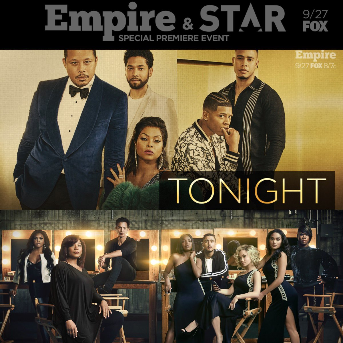 RT @leedanielsent: #Empire @EmpireFOX in less than 2 hours 8/7c ! Followed by #STAR @STAR 9/8c https://t.co/YpXgMTfQBX