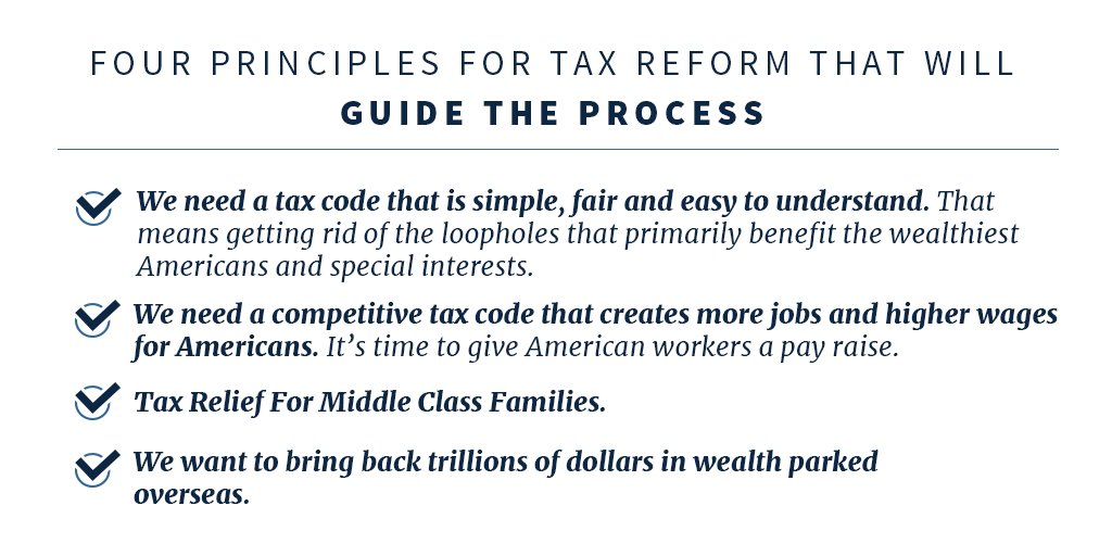Four principles for tax reform that will guide the process ⬇️ https://t.co/X3crjhnTnz