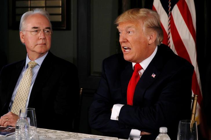 Trump 'not happy' with U.S. health chief Price over private travel