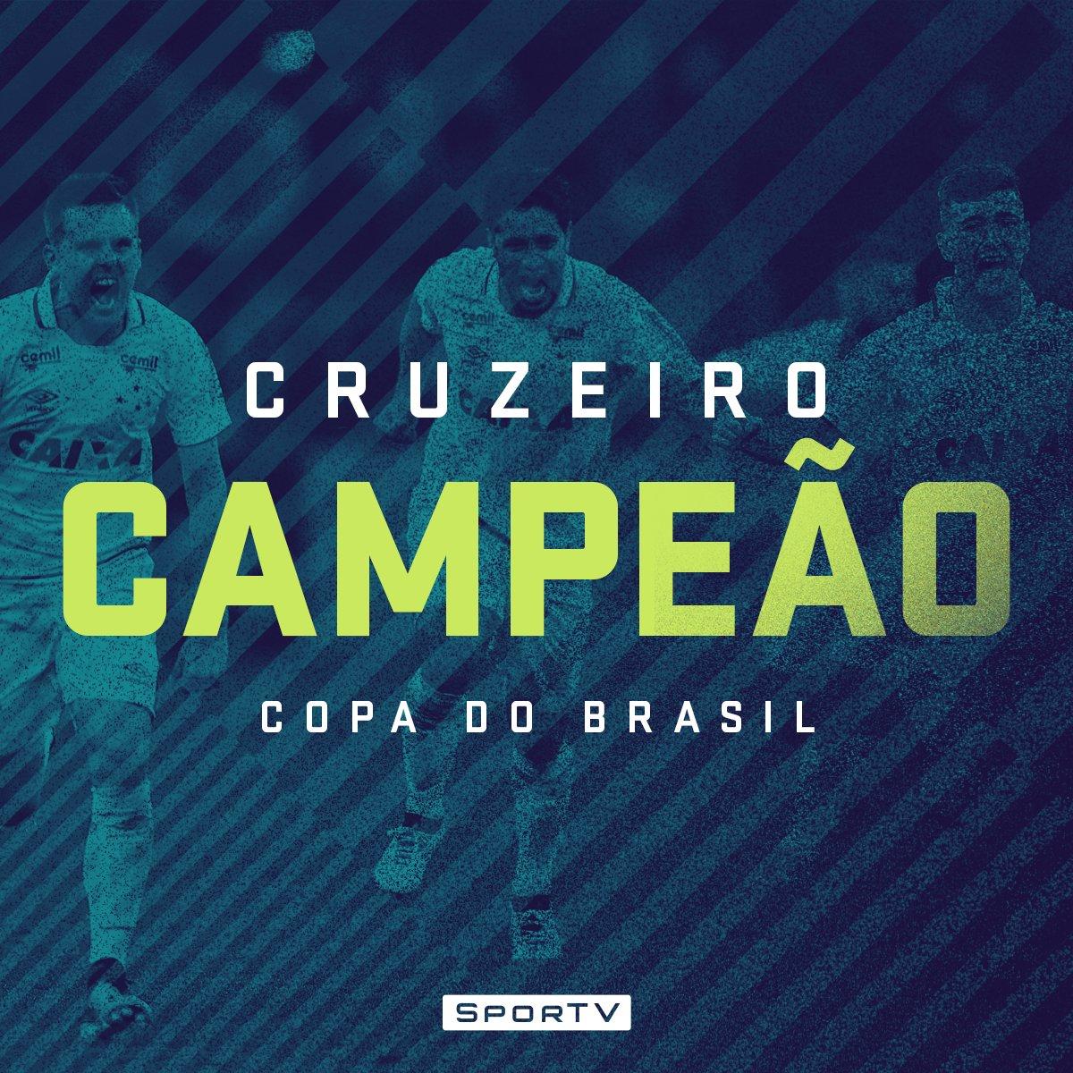 RT @SporTV: ÉÉ CAMPEÃÃO! O Cruzeiro é PENTACAMPEÃO da Copa do Brasil!   #CopaDoBrasilNoSporTV #FinalCopaDoBrasil https://t.co/dKMDpDpqRU