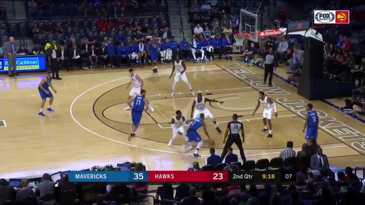 The @dallasmavs drain 19 3s & earn their 4th win of the preseason! They defeat the @ATLHawks 108-94. #NBAPreseason https://t.co/nARbYb06VH