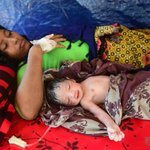 In the chaos of Bangladesh's refugee camps, a baby is born