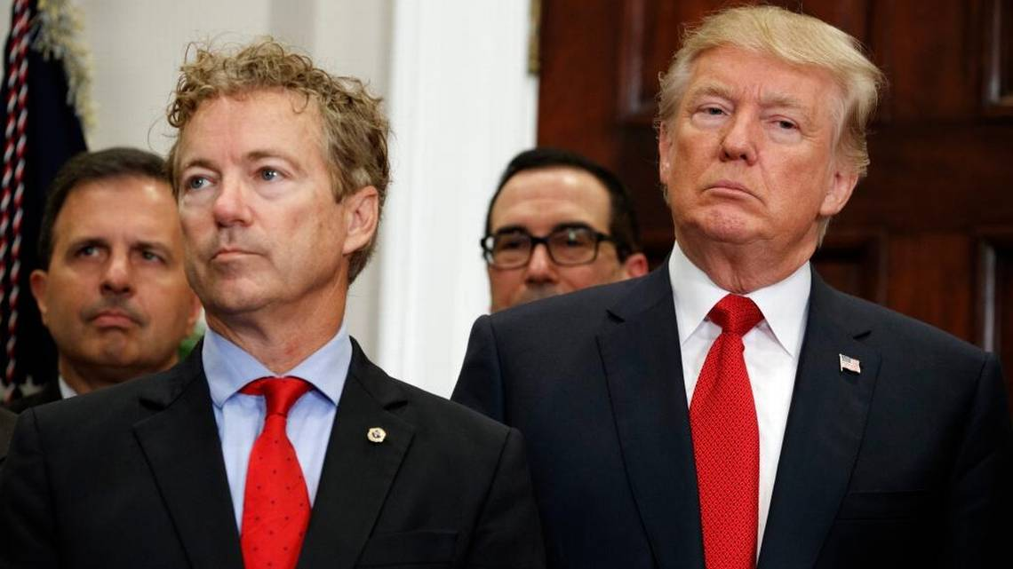 Rand Paul gets prominent spot as President Trump signs order on health care | Lexington Herald Leader