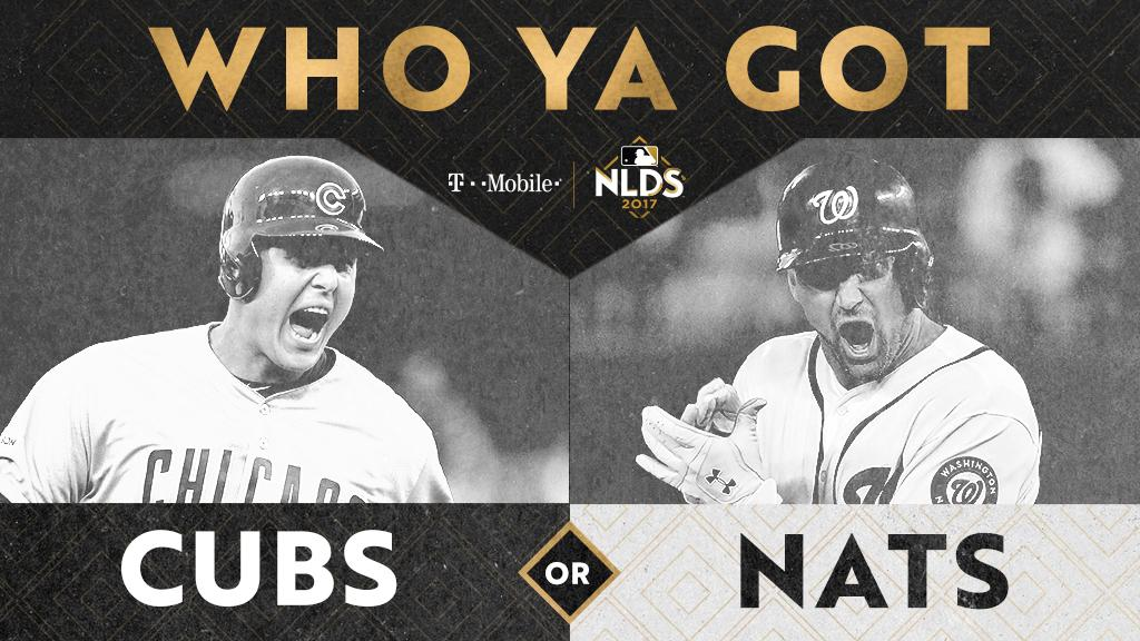 .@Cubs and @Nationals will duke it out on the field, YOU can duke it out in the comments.   Who ya got? https://t.co/EDq1KN1E8m