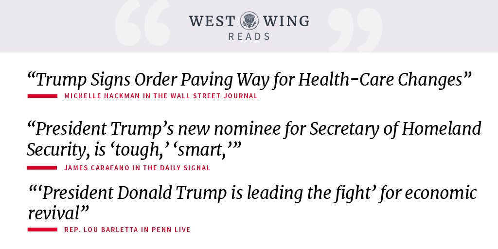 Read what the West Wing reads: https://t.co/YUicxpP9np https://t.co/8o1iPSZRub