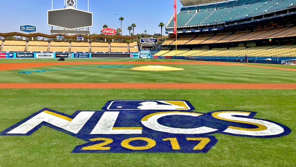 They're getting ready in Los Angeles.   But who will join the @Dodgers in the #NLCS? https://t.co/EwmWAERSo4