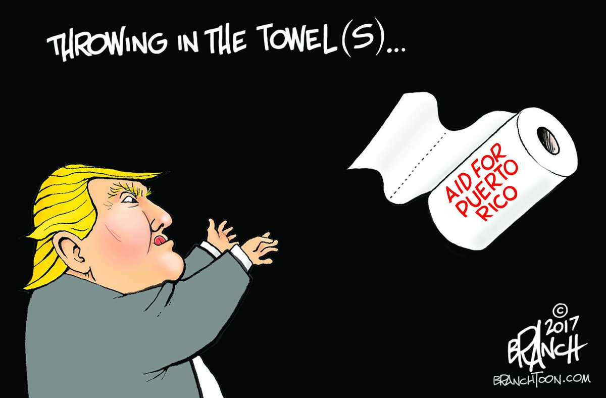 Throwing in the Towels #Trump #PuertoRico #PuertoRicoRelief #politicalcartoons https://t.co/Uj3A5GPG4b