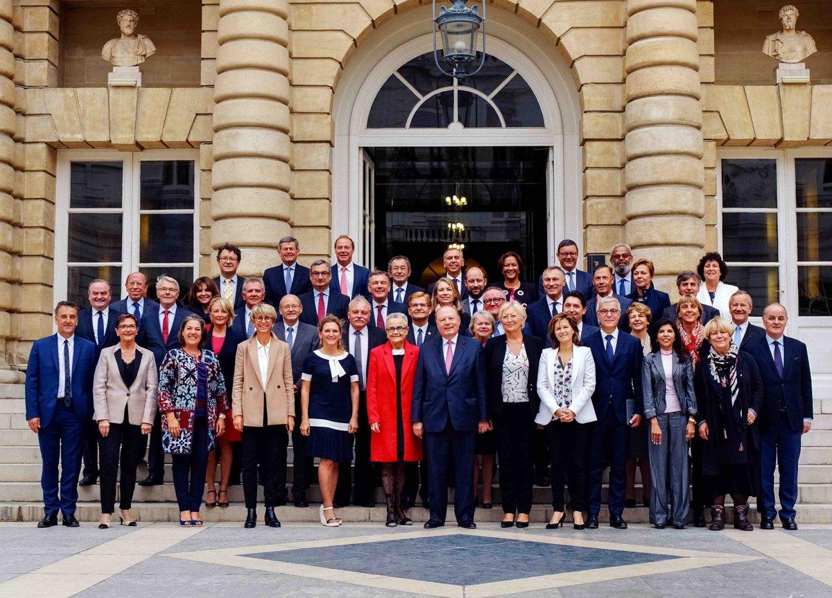 Photographie officielle du groupe Union Centriste du Sénat.  © Yoann Leveque