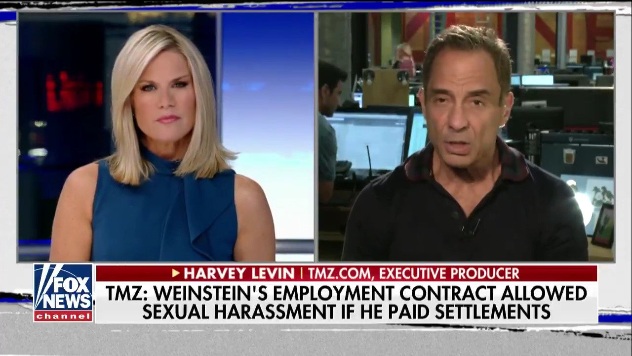 .@HarveyLevinTMZ On Harvey Weinstein Co.! 'Structured contract essentially allowed for sexual-harassment'! https://t.co/VXcMQUNOr0