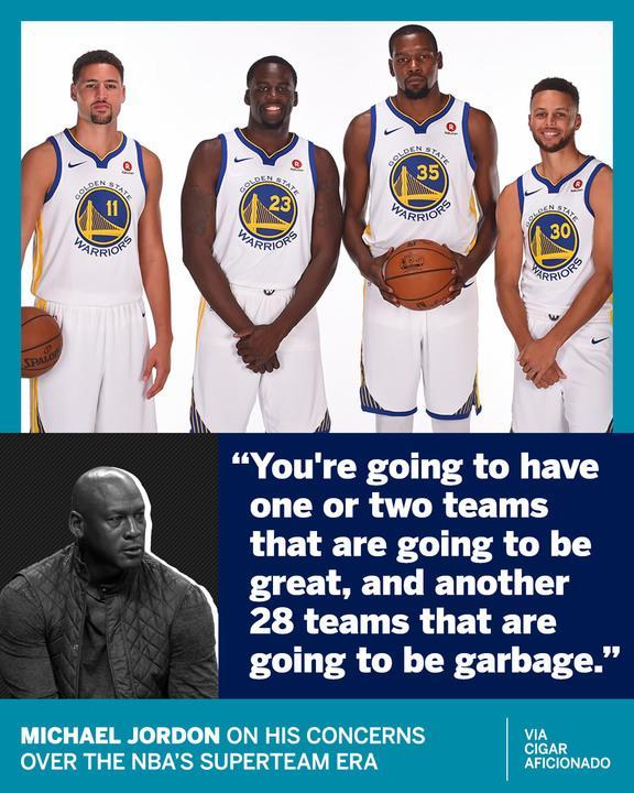 MJ isn't a fan of superteams. https://t.co/f3klNgsoF0