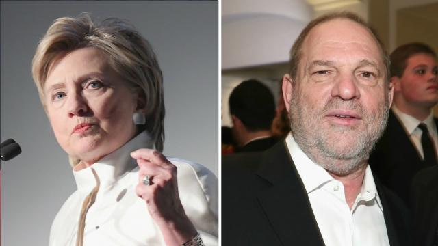 Clinton to donate all campaign contributions from Harvey Weinstein to charity https://t.co/187uibBCk9 https://t.co/tYQx9Gjo1g