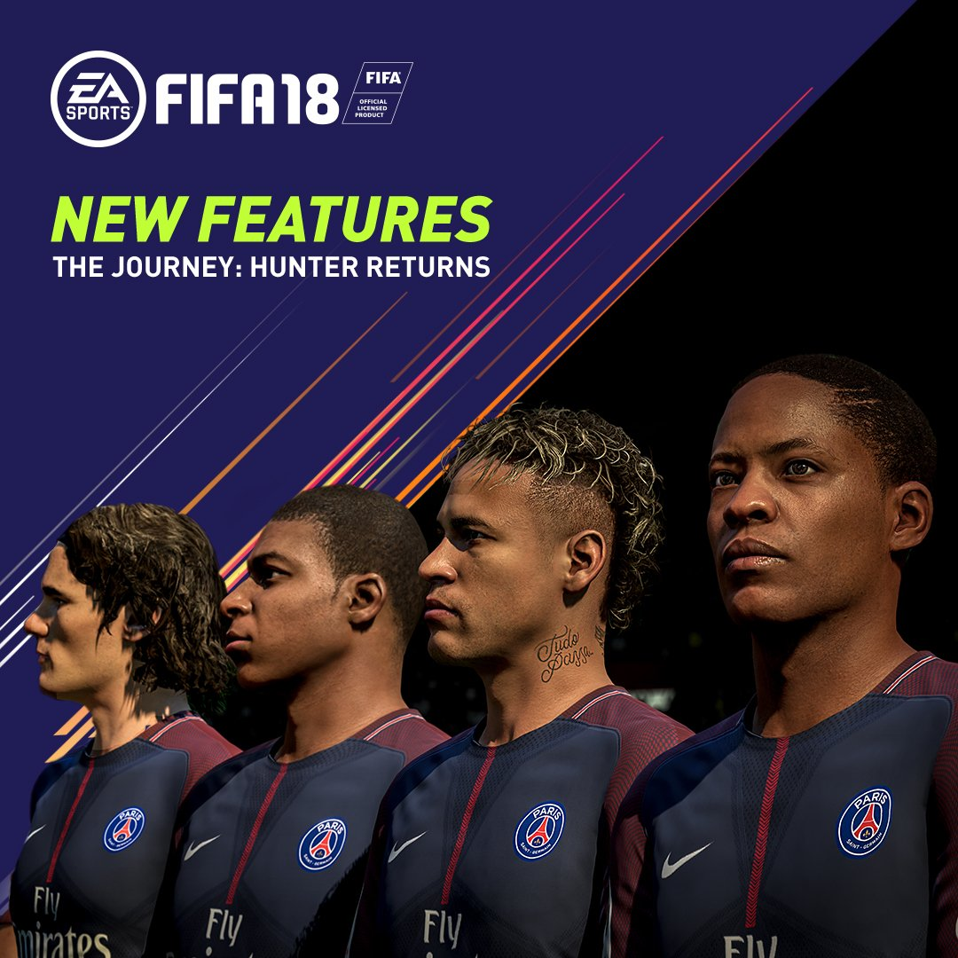 New features and more to play for in The Journey: Hunter Returns #FIFA18 https://t.co/unPvEsMolD https://t.co/L17gTtjkcn