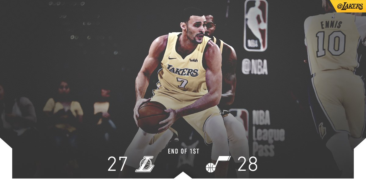 Nice opening stanza from Larry Nance Jr. (7 pts, 3-of-4) in a close first quarter. https://t.co/OWeEmRzOzF