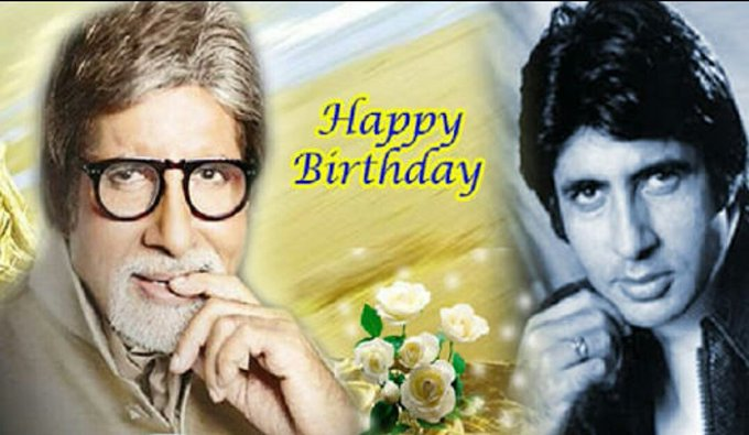 Happy birthday to you Amitabh Bachchan.
