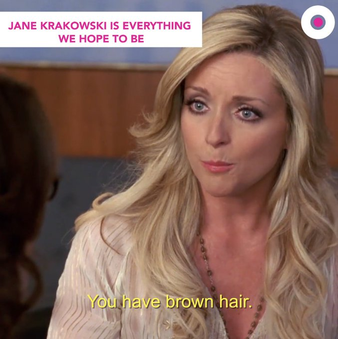 The woman can sing, act, dance and make us cry laugh. Happy birthday, Jane Krakowski!