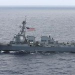 US warship sails near islands that Beijing claims in South China Sea: US officials