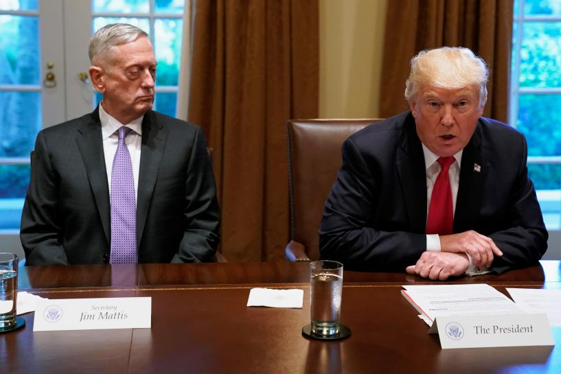 Trump, top defense officials, discuss North Korea options: White House