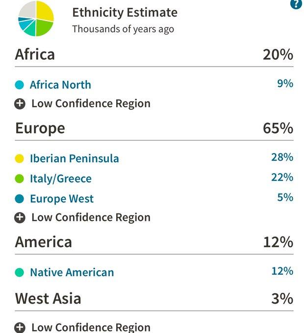 1 pic. Here is my ethnic breakdown from @Ancestry DNA https://t.co/kJM0DvYUF4