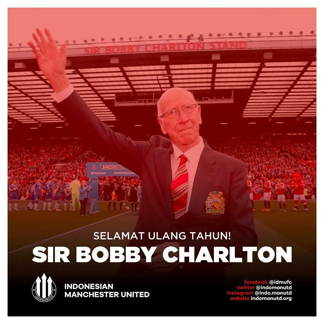 """Happy Birthday legend \""""Sir Bobby Charlton\"""""""