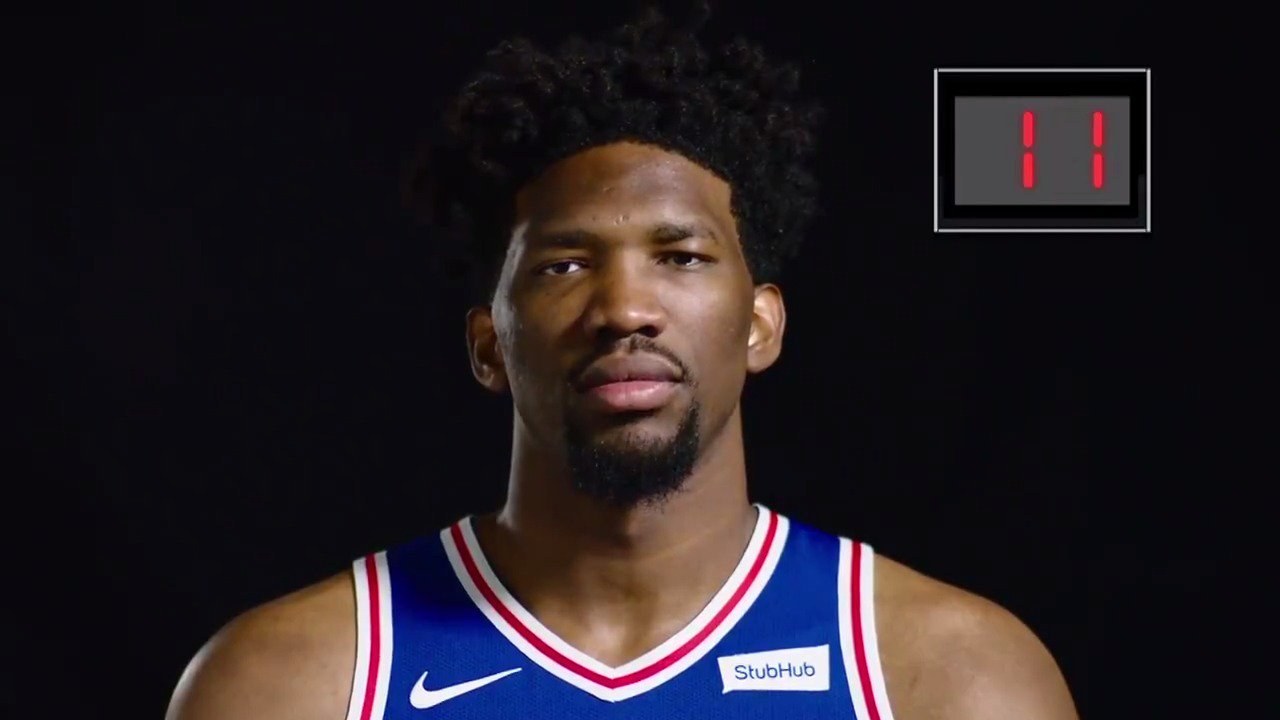 Can @JoelEmbiid beat the buzzer? Go 24 seconds with the @sixers center! #JrNBAWeek #GlobalJrNBADay ���� https://t.co/nMHW7htcFC