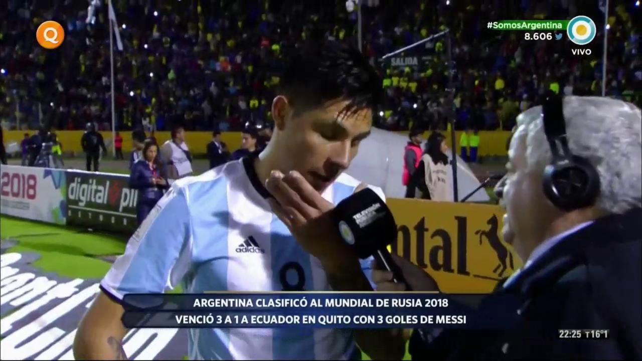 Las lágrimas de Enzo Pérez tras conseguir el pase al Mundial. Se mandó un partidazo, 100% de efectividad en pases. https://t.co/9X9igbafve