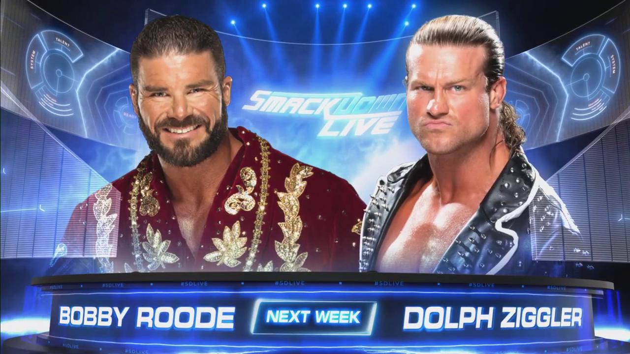 JUST ANNOUNCED: @REALBobbyRoode will get a rematch against @HEELZiggler NEXT WEEK on #SDLive! https://t.co/eKG0A7tBxM