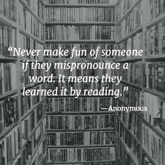 'Never make fun of someone if they mispronounce a word...' https://t.co/XSHvmLk34I