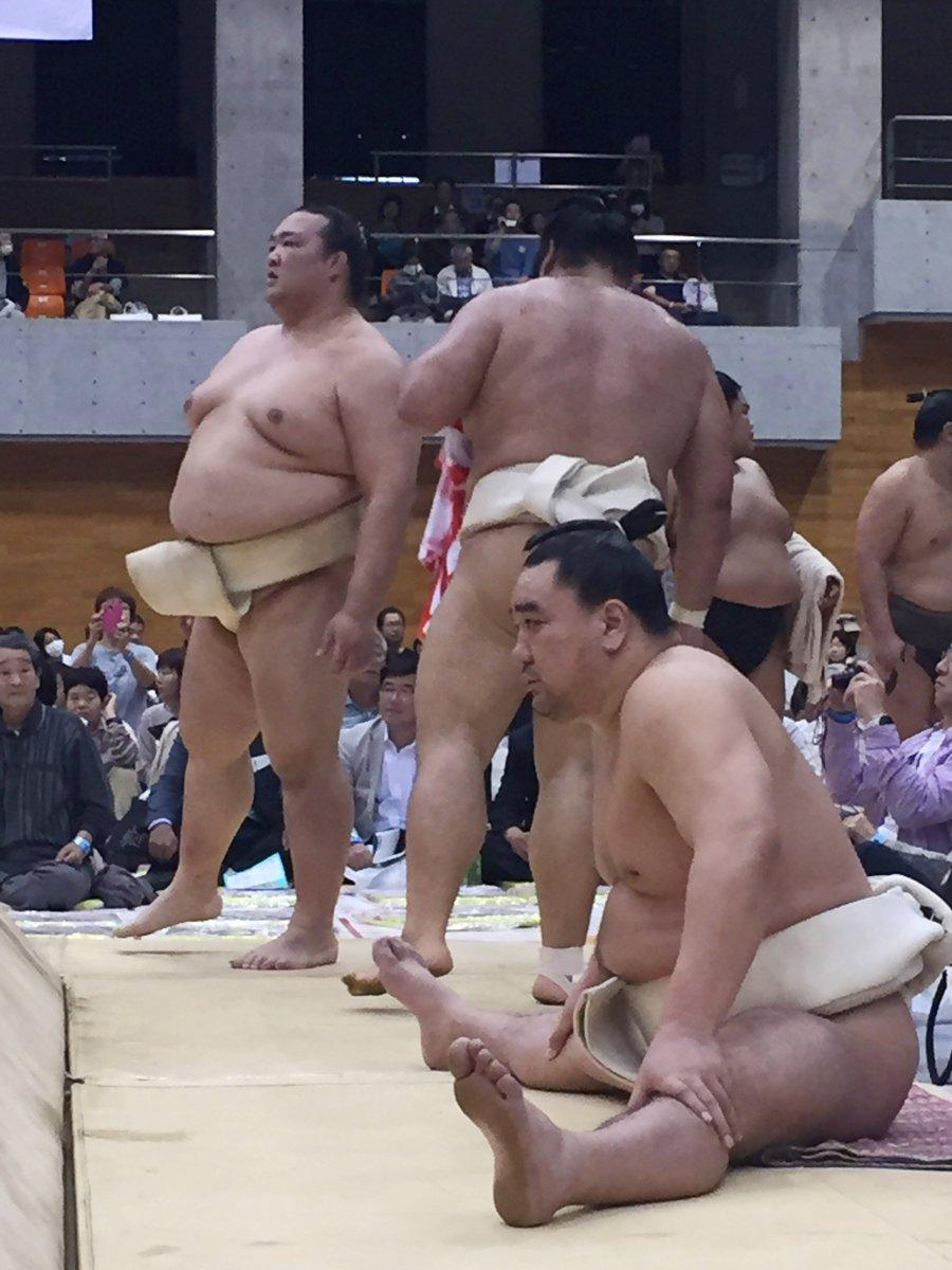 test ツイッターメディア - <秋巡業@筑西市>土俵下の日馬富士。奥には稀勢の里。 #sumo https://t.co/j3xC3pZtnw