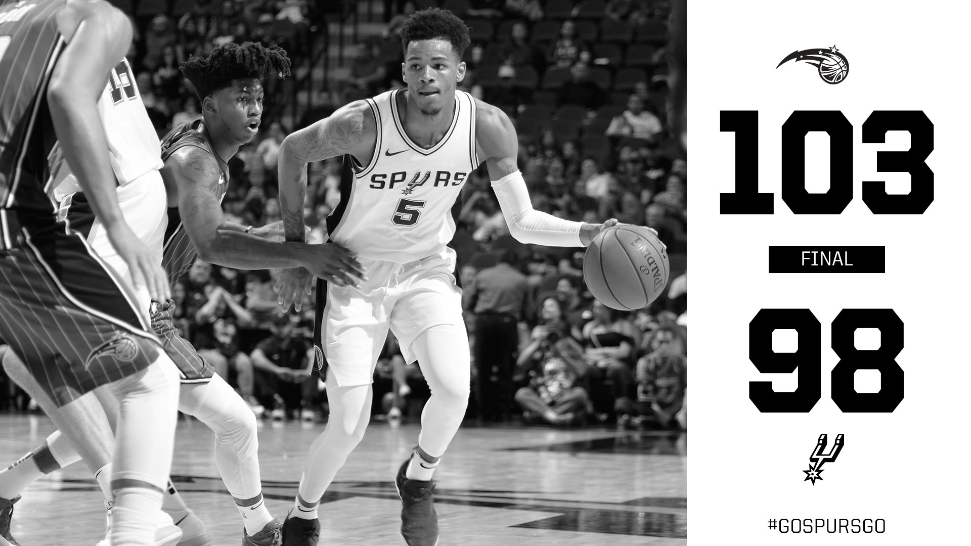 We're back in action Friday for our final preseason game in Houston.   #GoSpursGo https://t.co/glDw3HCA3h