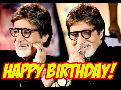 Happy birthday amitabh bachchan ji