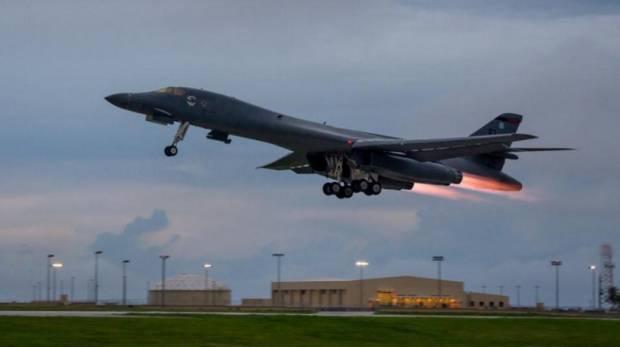 US flies bombers over Korea as Trump discusses options