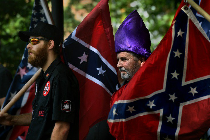 KKK caught recruiting in the parking lot of a high school football game