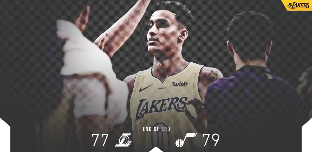 Brandon Ingram (13 pts) and Kyle Kuzma (12 pts) are heating up as we head to the fourth. https://t.co/wmzZsdchNG
