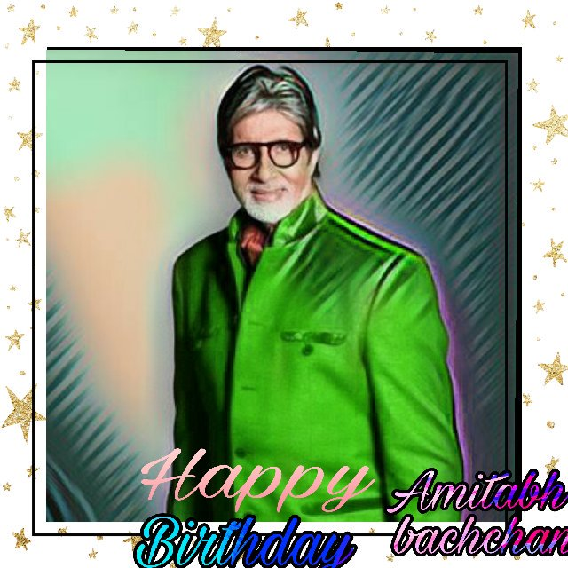 Happy birthday dear amitabh bachchan