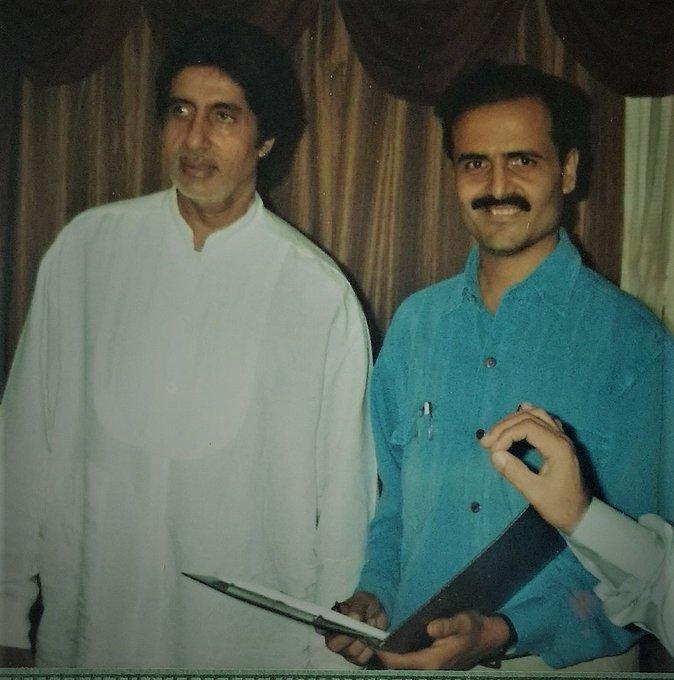 With Mr. Amitabh Bachchan in 1999. Sir, wish you a very happy 75th Birthday!