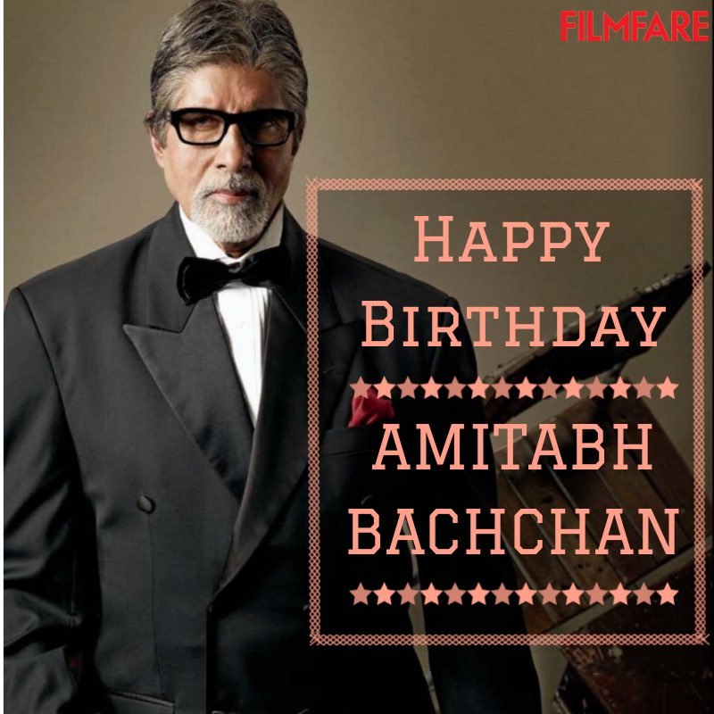 Happy birthday to you Amitabh Bachchan