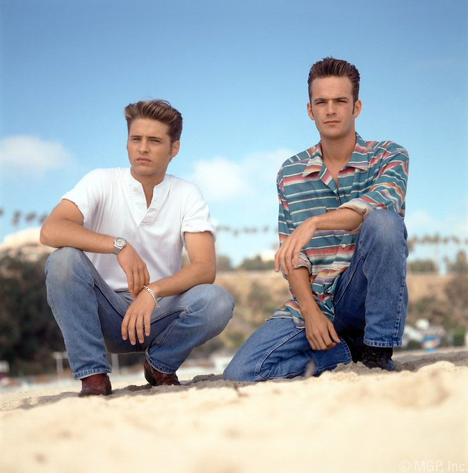 Happy Birthday to Luke Perry(right), who turns 51 today!