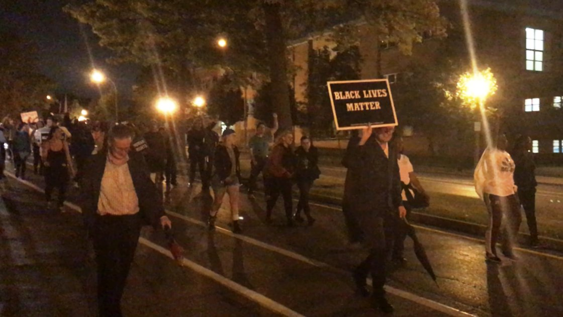 Protesters march in north St. Louis at scene of police shooting that stoked outrage