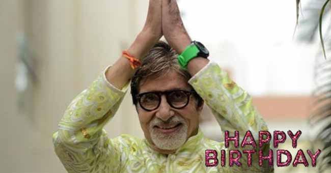 Happy Birthday wishes to legend Amitabh Bachchan