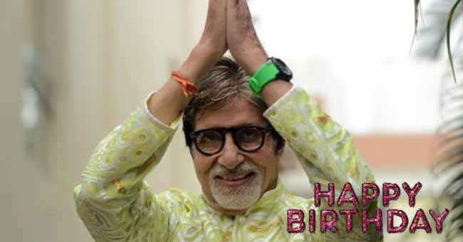 Happy Birthday wishes to legend Amitabh Bachchan
