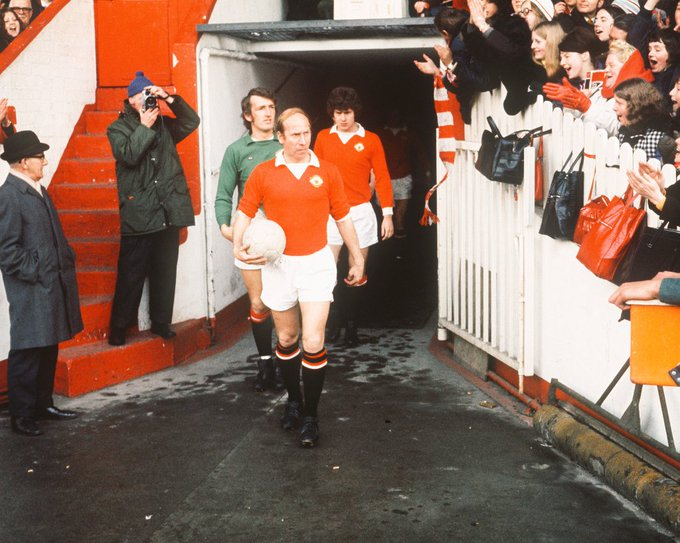 titles FA Cup European Cup World Cup Ballon d\Or Happy birthday Sir Bobby Charlton.